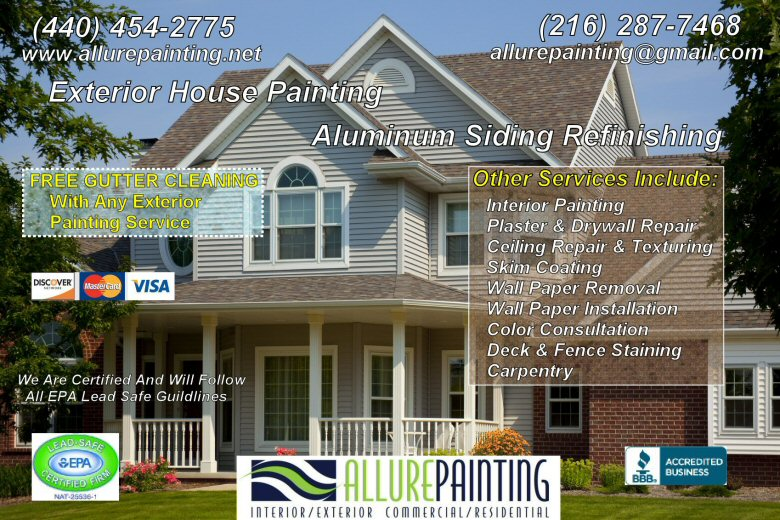 Allure painting exterior painting services - Exterior house painting costs property ...